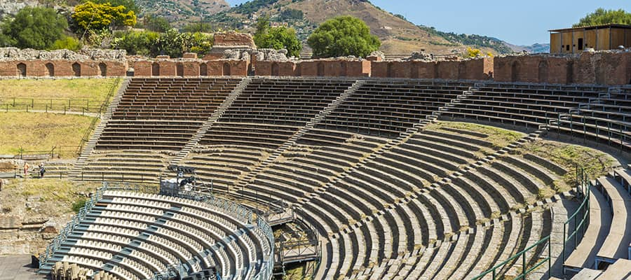 Teatro Greco on a cruise to Taormina
