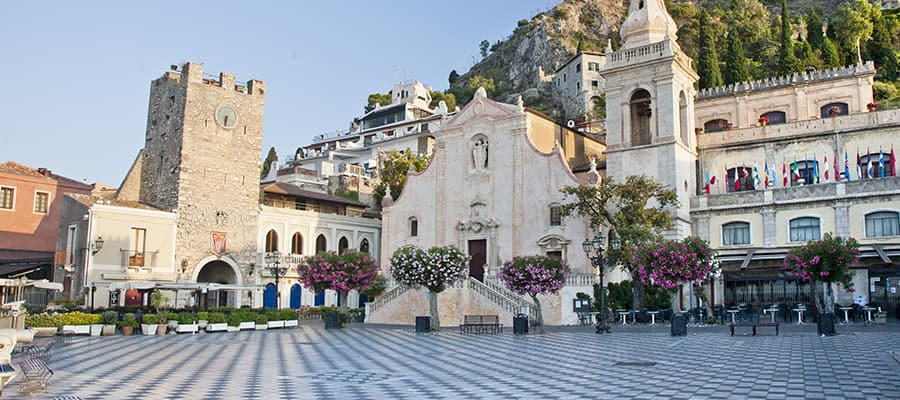 Taormina in morning on your Europe cruise