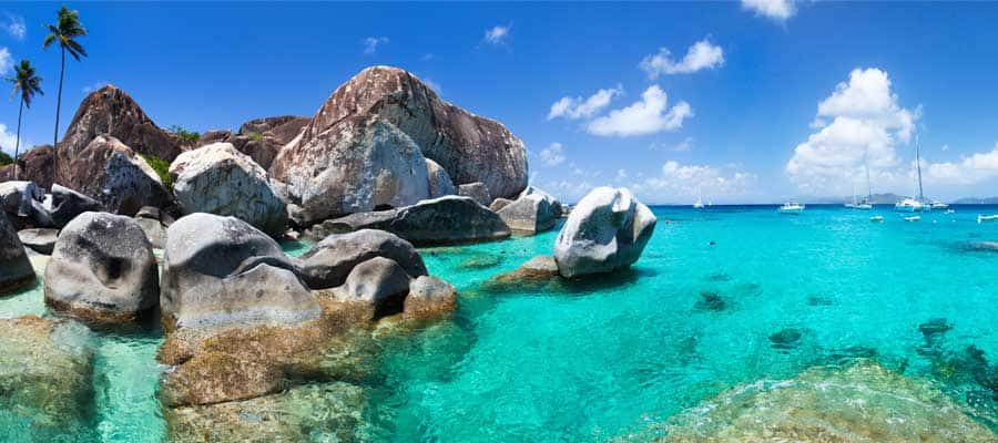 Warm crystal clear water in Tortola
