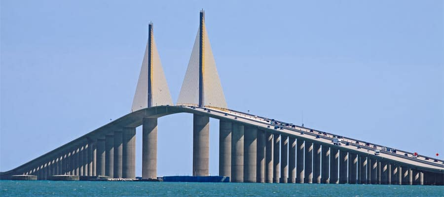 Sunshine Skyway Bridge on a Tampa cruise