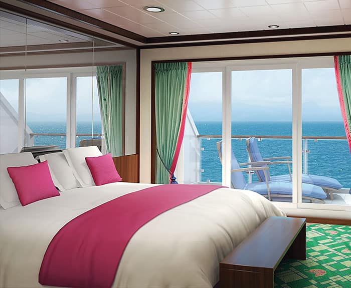 The Haven's 3-Bedroom Garden Villa Guest Bedroom on Norwegian Jade