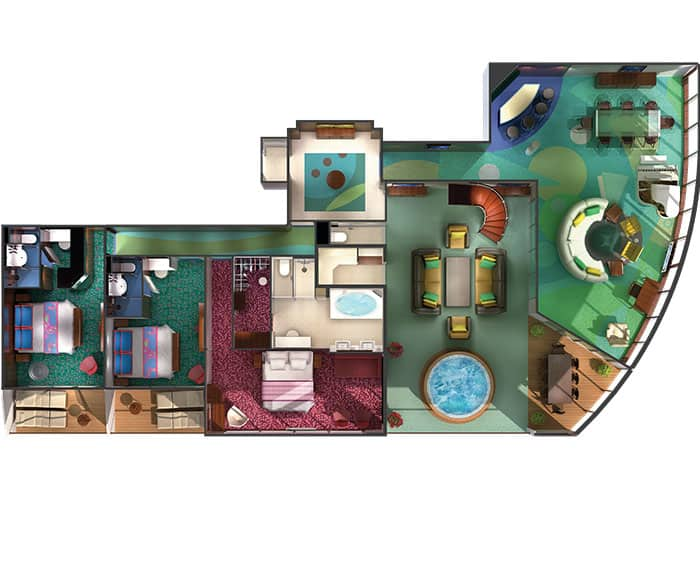 Plano de The Haven villa con jardín, 3 habitaciones
