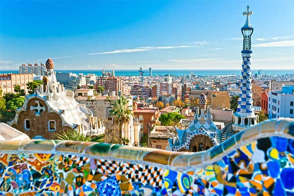 Beautiful view of Barcelona