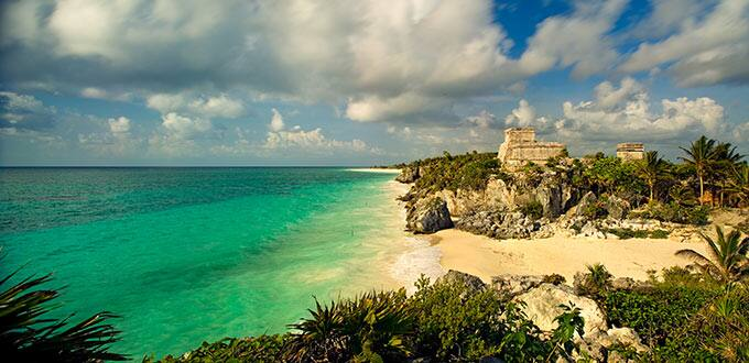 Ancient Mayan temples paint the Gulf landscape