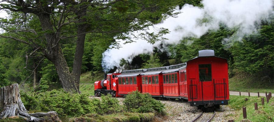 The World's End Train on your Ushuaia cruise