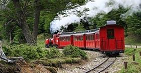 Parque Nacional da Terra do Fogo & trem vintage