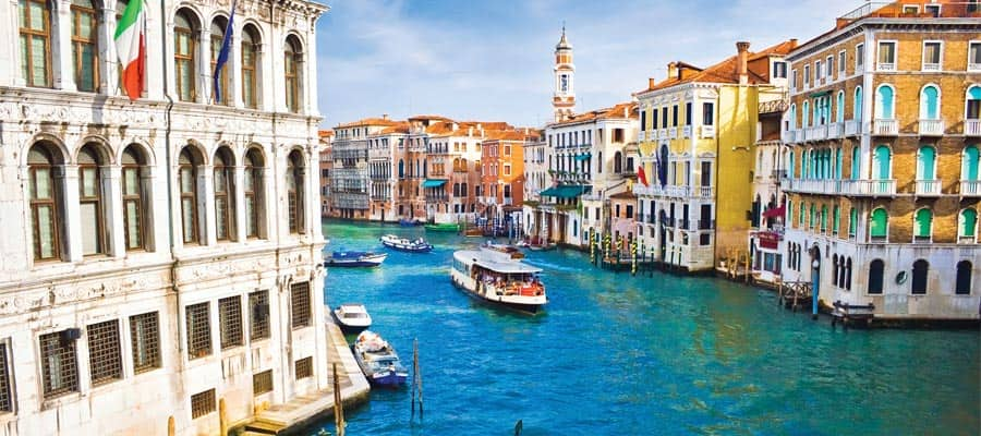 Colorful buildings in Venice
