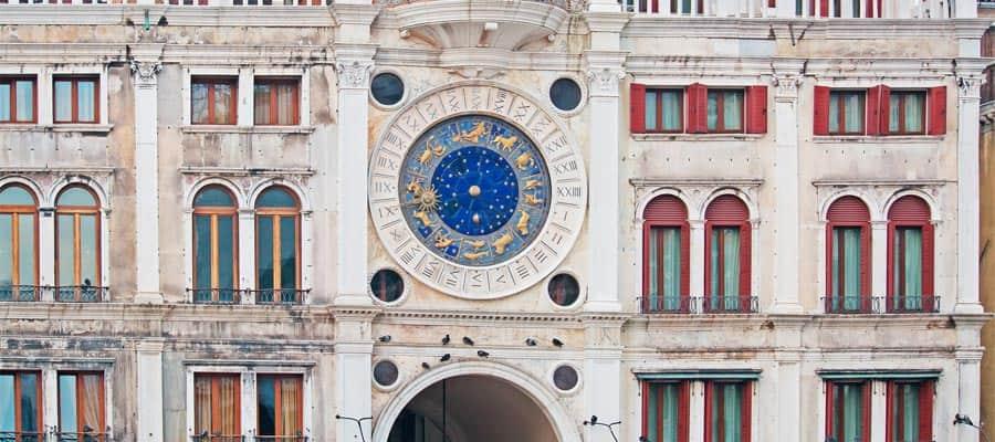 Torre do relógio de São Marcos em Veneza