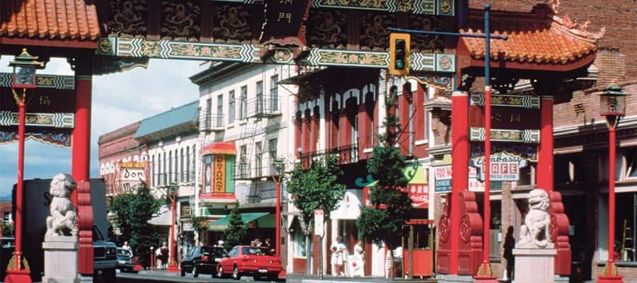Entrada para Chinatown no seu cruzeiro no Alasca