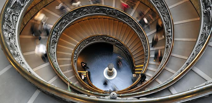 Venture up the steps of the historic Vatican Museums