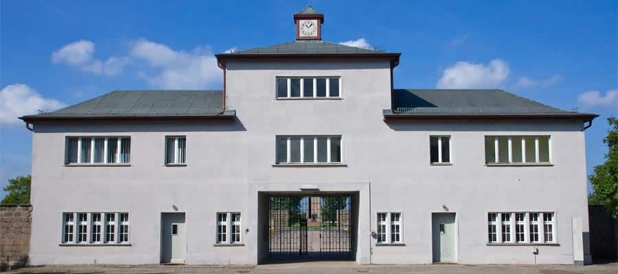 Entrance to Sachsenhausen concentration camp