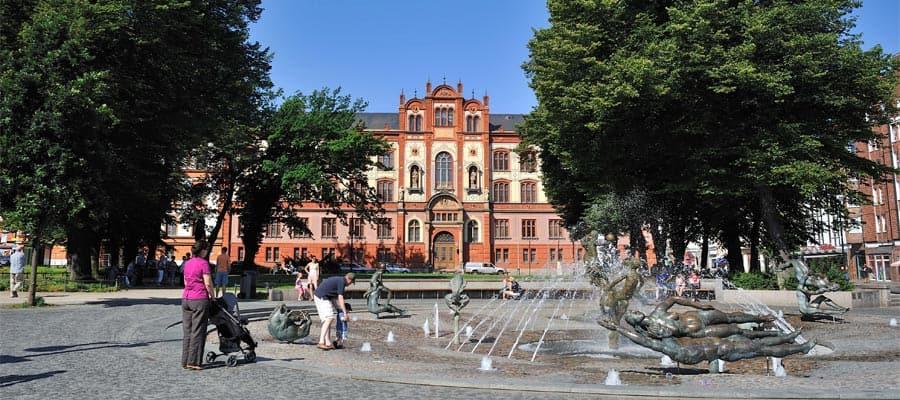 Rostock University square in Berlin, Germany