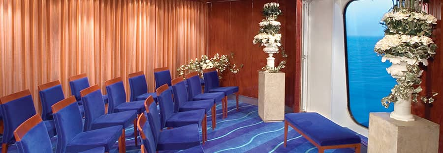Ideal onboard ceremony locations