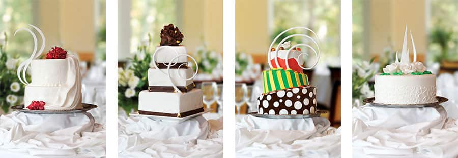 Beautiful wedding cake choices