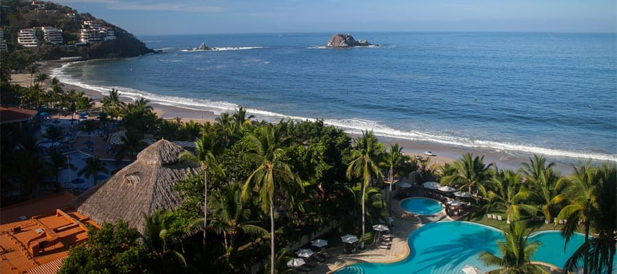 Ixtapa beach on your Mexican Riviera cruise