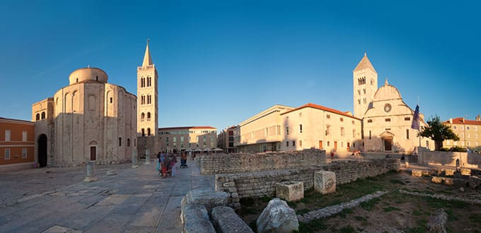 While in Zadar take a moment to visit its vast monasteries and churches