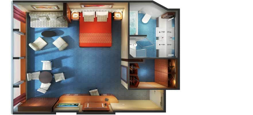Floor plan Family Suite