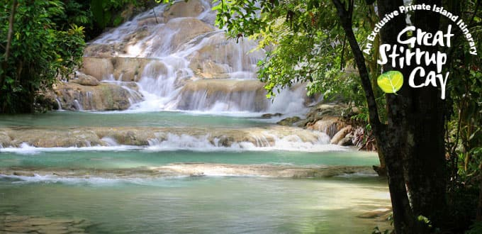 Splash around in the running waters of Dunn's River Falls.