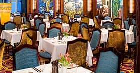 Norwegian Gem cruise ship Grand Pacific Main Dining Room inspired by the Matson