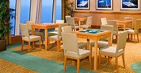 Norwegian Gem cruise ship Card Room for quite relaxation.