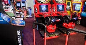 Norwegian Gem cruise ship Video Arcade with car racing and pinball.