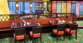 Norwegian Jade cruise ship Blue Lagoon 24-hour, family friendly restaurant.