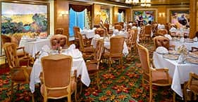 Norwegian Jade cruise ship Le Bistro French Restaurant.