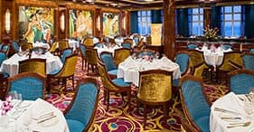 Norwegian Jade cruise ship Main Dining Room inspired by the Matson Liner Ships.