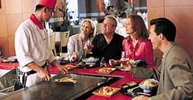 Norwegian Jade cruise ship Teppanyaki Room where Asian food is prepared right be