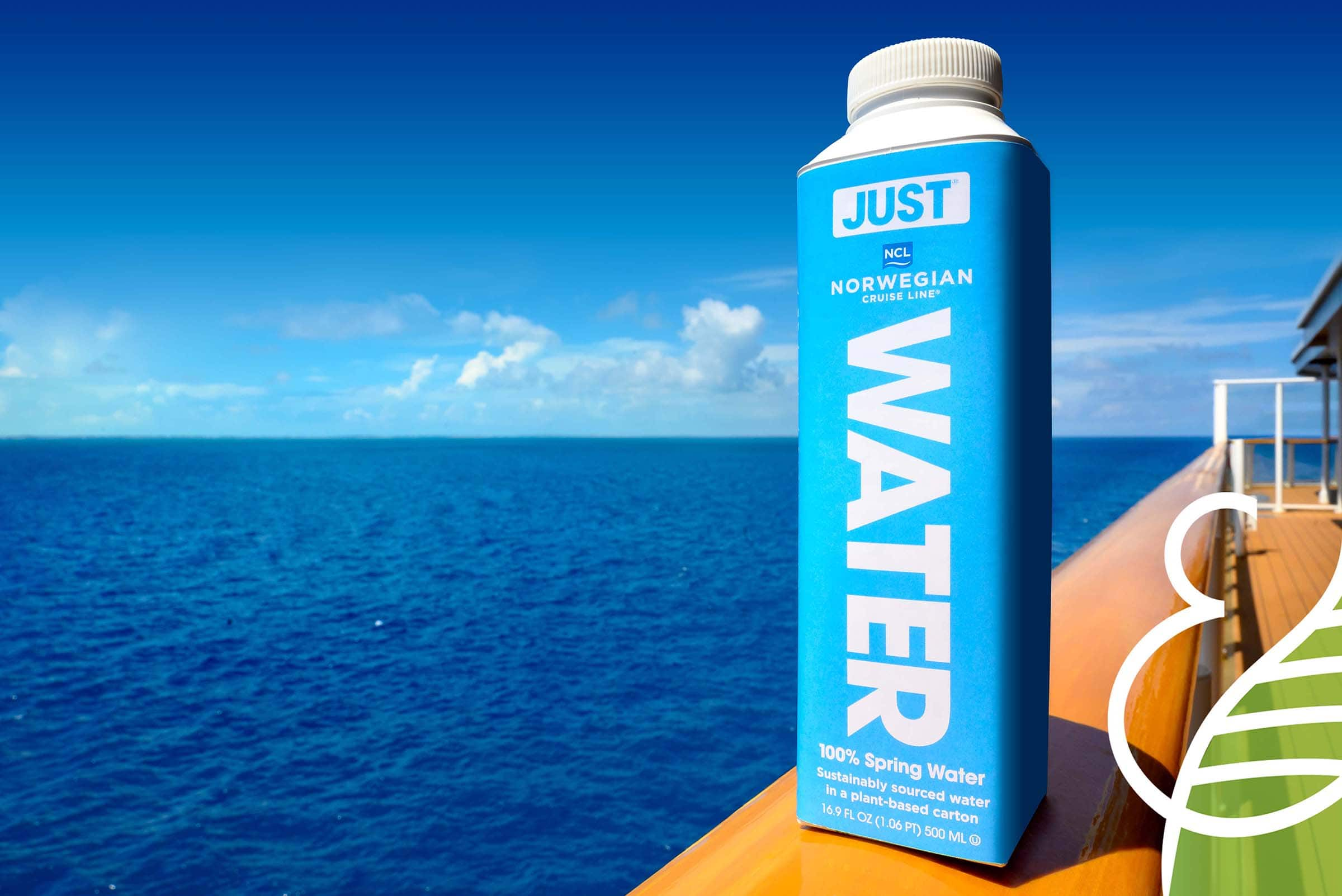 Norwegian Cruise Line has replaced all single-use plastic beverage bottles acros