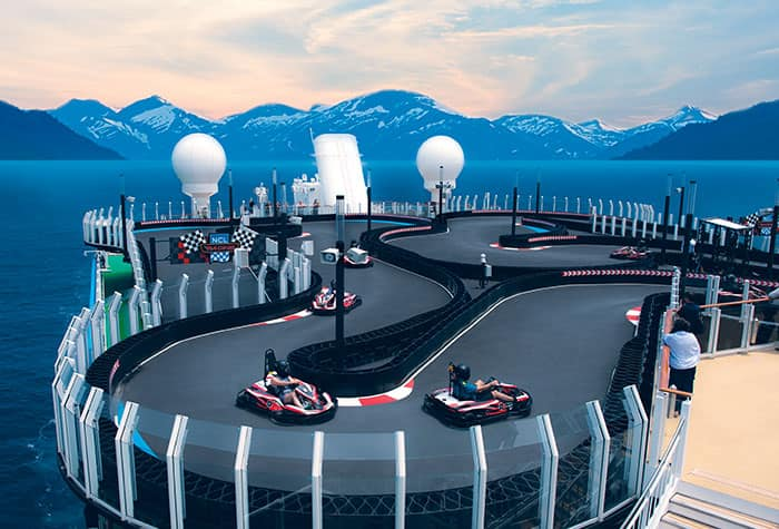 Circuit du Norwegian Encore
