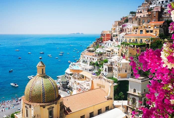 Wunderschöne Sonnenuntergänge in Italien