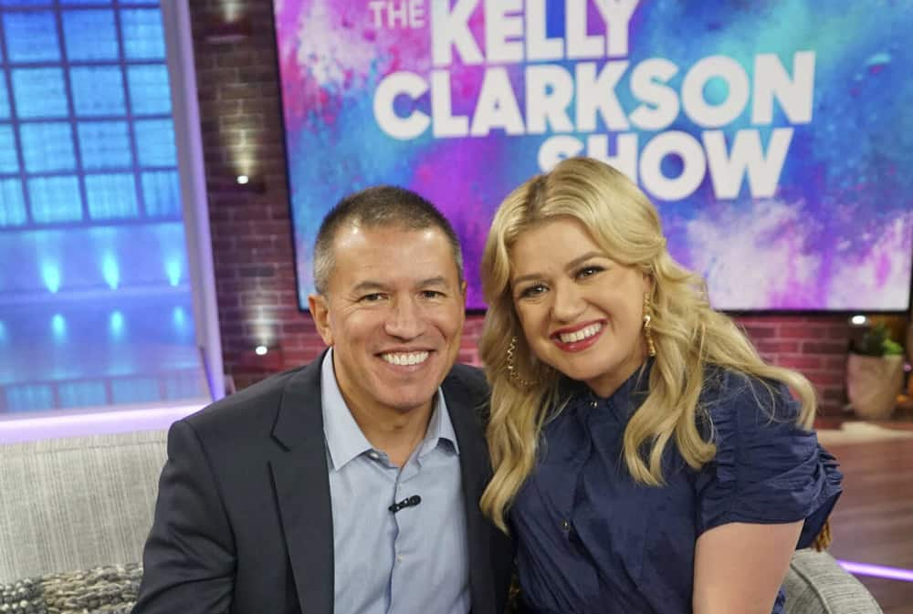 Andy Stuart and Kelly Clarkson