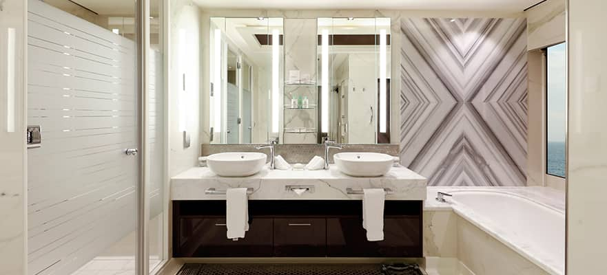 Modern upscale bathroom