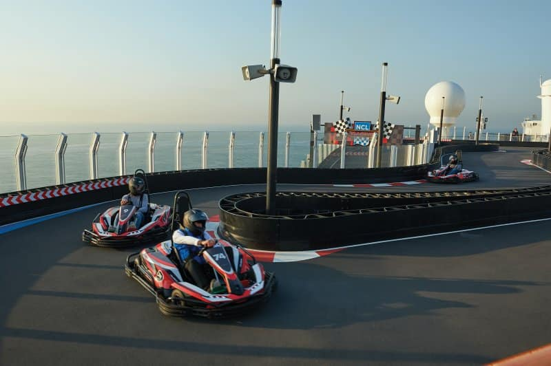 Norwegian Bliss Race Track at Sea