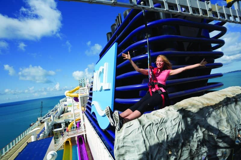 Zipline on Norwegian Breakaway