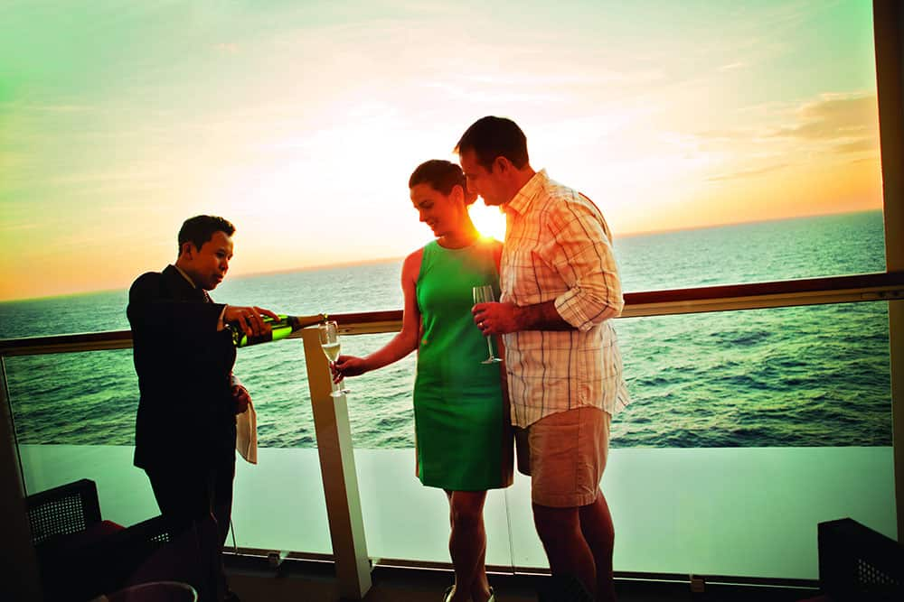 Sip Champagne on the Balcony of Your Stateroom
