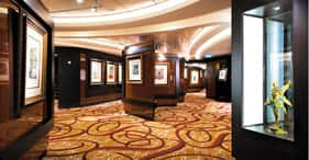 Norwegian Epic cruise ship The Collection Art Gallery.