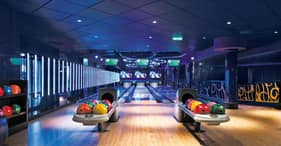 Norwegian Epic cruise ship Bliss Ultra Lounge bowling alley.