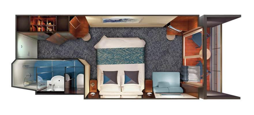 Plan de la cabine familiale avec balcon