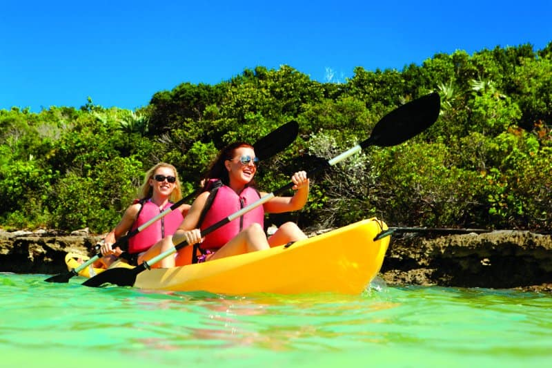 Kayak in Great Stirrup Cay