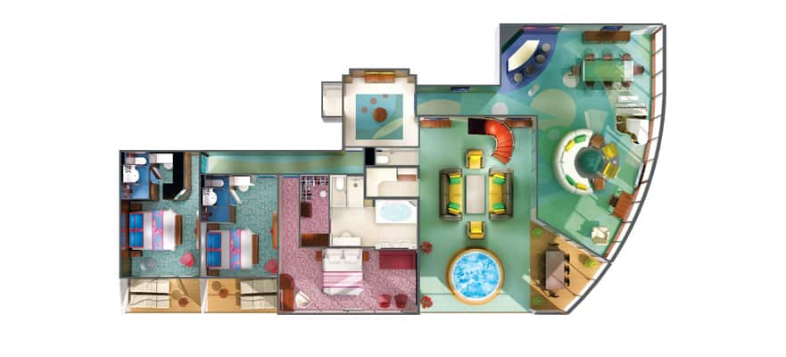 Floor plan The Haven 3-Bedroom Garden Villa