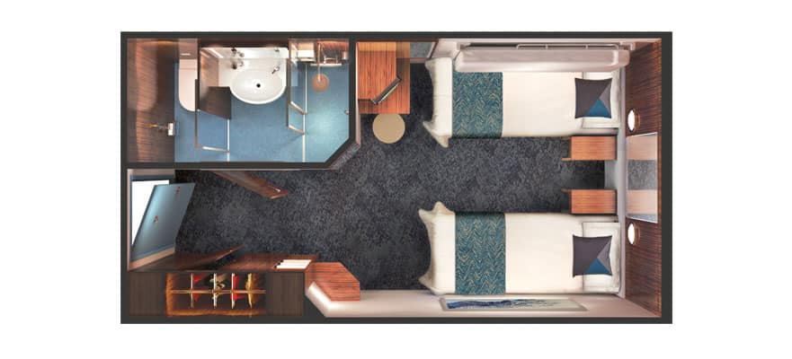 Floor plan Mid-Ship Inside