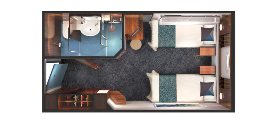 Floor plan Oceanview Porthole Window