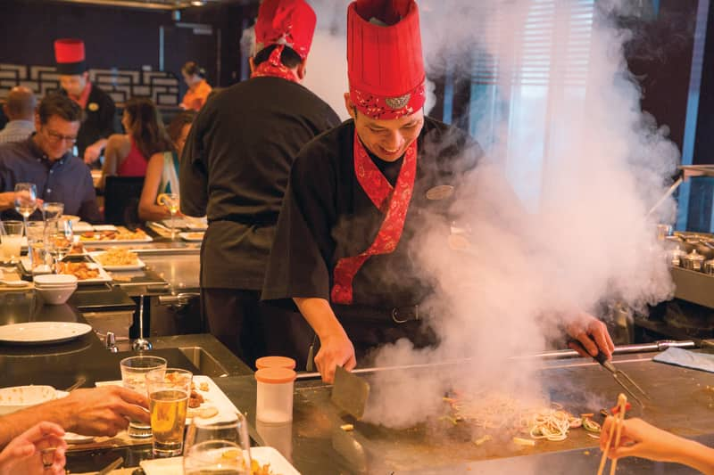 Teppanyaki on Norwegian Cruise Line Ship