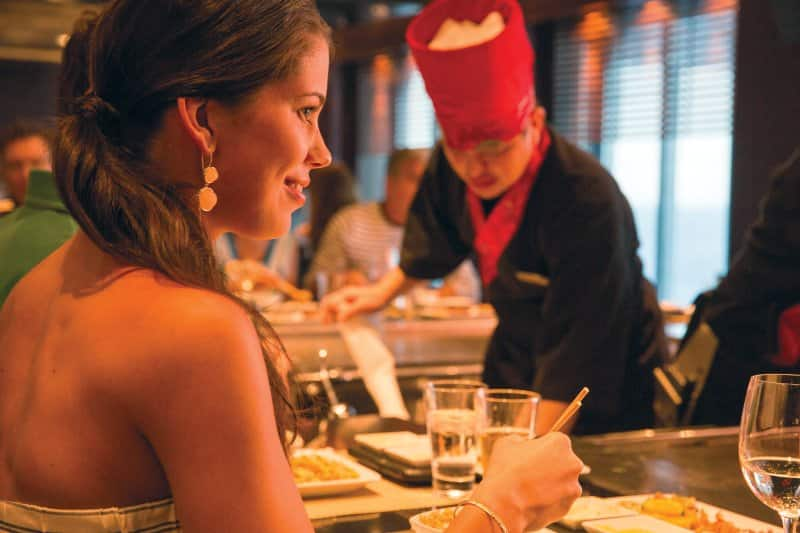 Specialty Dining on Norwegian Cruise Line: Teppanyaki