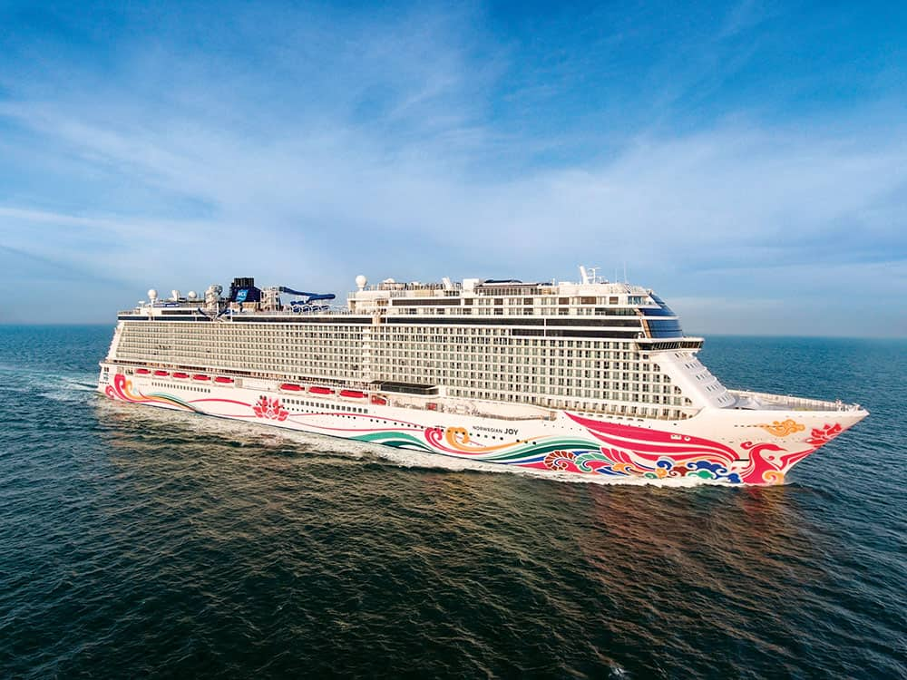 Norwegian Joy West Coast Itineraries