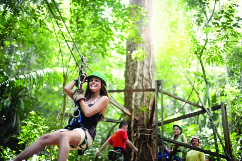 Zipline Across the Jungle on a Cruise to Jamaica