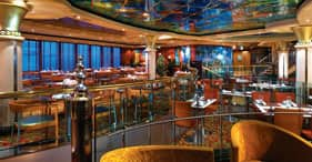 Norwegian Star cruise ship Blue Lagoon 24-hour dining with family friendly atmos