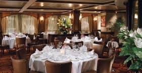 Norwegian Star cruise ship Cagney's Steakhouse with a 1930's theme.